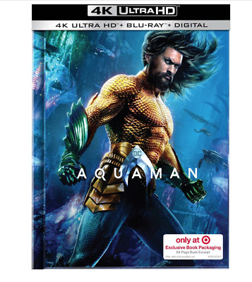 Aquaman (2019) 4K UHD + Blu-ray + Digital Target Exclusive 64 Page Digibook