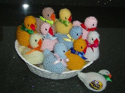 HAND KNITTED EASTER CHICKS  x 11