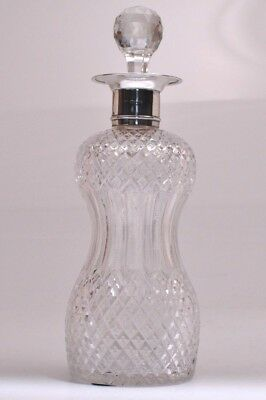 Vintage Crystal and Sterling Silver 1897 WILLIAM HUTTON & SONS LONDON Decanter