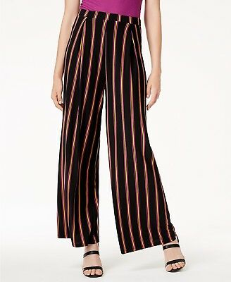 Bar III Striped Wide-Leg Pull-On Pants MSRP $59.50 Size S # 9B 187 NEW