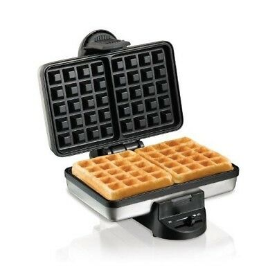 Belgian Waffle Maker Hamilton Beach Small Kitchen Appliance Breakfast Iron