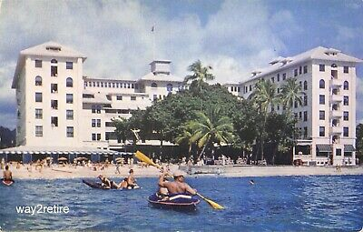 Postcard Hi Honolulu The Moana Hotel Waikiki Beach Hawaii