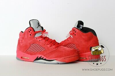 2017 Air Jordan Retro 5 Red Suede size 9 w/ Box university | TRUSTED SELLER!