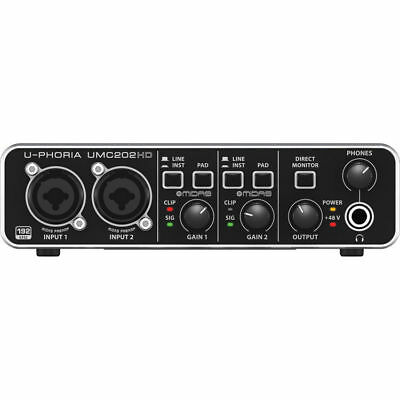 Like N E W Behringer U-Phoria UMC202HD Audio Interface  Open Box Never Used!