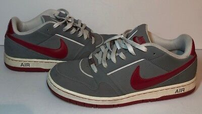625ceb6341573 Nike Air Prestige III Men s Size 11 Athletic Shoes 386114-062 Grey Suede    Red