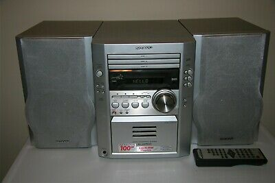 Sharp XL-HP500 3 CD Auto Reverse Cassette Stereo Aux Input Micro System w Remote