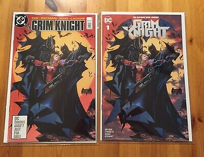 Batman Who Laughs Grim Knight #1, Tan variant virgin covers A+ B!