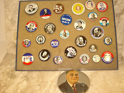 VINTAGE reagan  kennedy, wallace, nixon ike  Politcal Button Pin collection