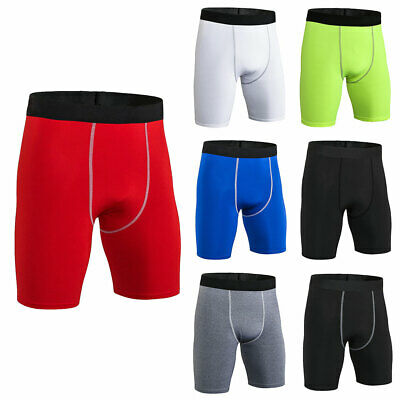 Mens Compression Shorts Quick Dry Wide Elastic Waistband Sports Tights Running
