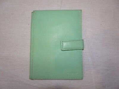 LODIS Mint Green Leather Passport Holder Wallet Travel Ticket Cards Slim Profile