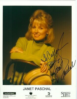 Janet Paschal autograph 8 x 10 color publicity photo hand signed Christian