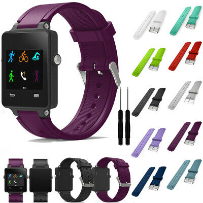 Silicone Strap Band Acetate Soft For Garmin Bracelet Watch Vivoactive Sports