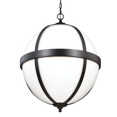 "New! Feiss F3055/4ORB Amato Glass Pendant , 4-Light, Oil Rubbed Bronze 22""X28""H"