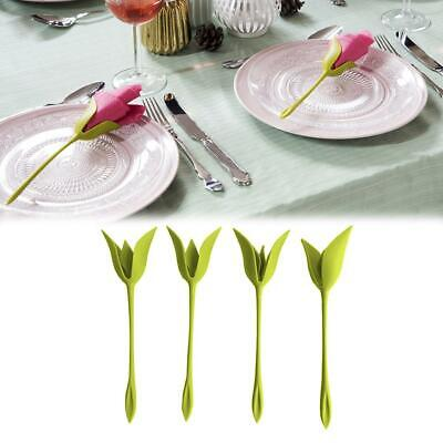 4-20Pcs Bloom Napkin Holders - Flowers Floral Green Design for Table Decor