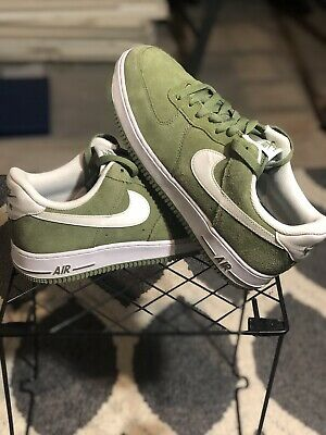 5e763e8498366 Nike Air Force 1 '07 Palm Green White Low Suede Shoes 315122-306 Men's