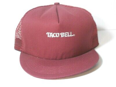 1713ca776fc34 Vintage Taco Bell Snapback Hat Trucker Mesh Cap  Poor Condition  Free  Shipping