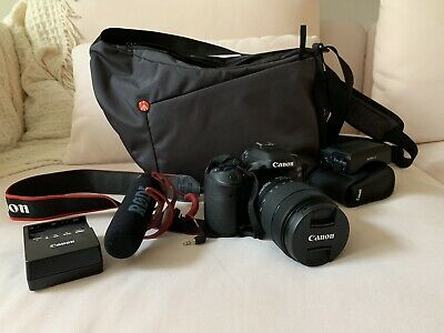 Canon EOS 80D DSLR Camera with EFS 18-135mm lens Video Creator Kit And Bag