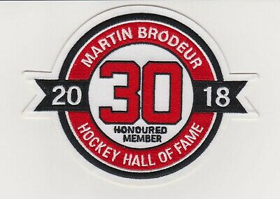 reputable site 34bed f8078 MARTIN BRODEUR HALL Of Fame Patch New Jersey Devils Jersey #30