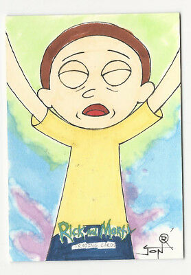 Rick and Morty 2018 Cryptozoic Hand Drawn Sketch Card by Jon Racimo 1/1
