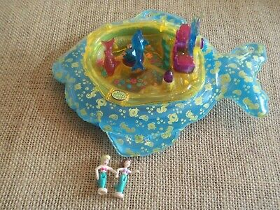 Vintage Polly Pocket Mattel 1999 Sea Splash Dolphin Ride Playset