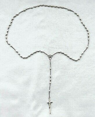 Vintage CATHOLIC CROSS ROMAN charm STERLING SILVER CRUCIFIX 925 sample Antique