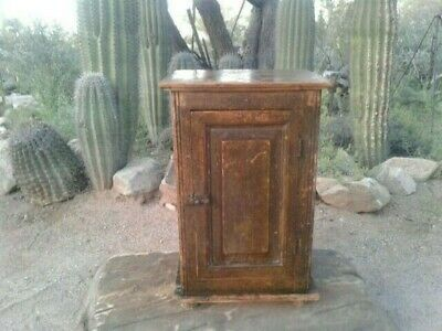 antique mexican nightstand end table book storage lamp original rustic southwest