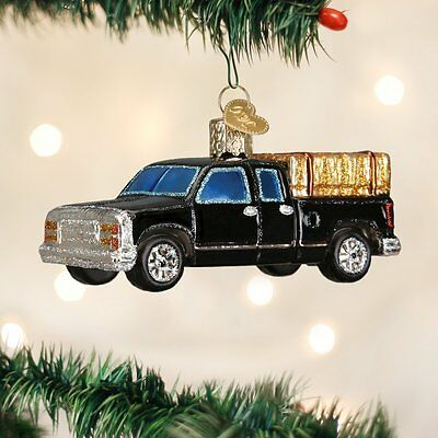 *Ranch Truck* Farm Hay Bale [46057] Old World Christmas Glass Ornament - NEW