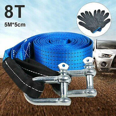 Abschleppseile Towing Road Recovery Strap with Two Shackles 4 Metre 5 Ton SM008 Tow Rope
