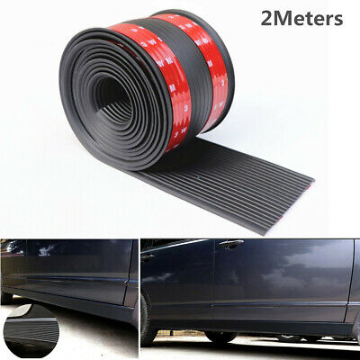 Rubber Car Side Skirt Anti-Collision Protect Strip Scuff Plate Door Sill Strip