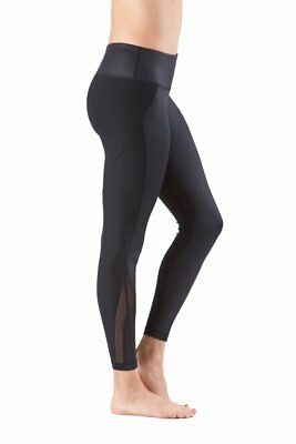 90 Degree By Reflex LIQUID LOOK COMBINATION ANKLE LENGTH LEGGINGS Black Size S