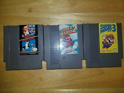 NES Game Lot: Super Mario Bros. 1, 2 + 3 Trilogy [Nintendo] Authentic Games!