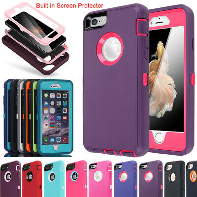 iPhone 6 6s 7 8 Plus Case Hybrid Rubber Heavy Duty Water/Shockproof Armor Cover