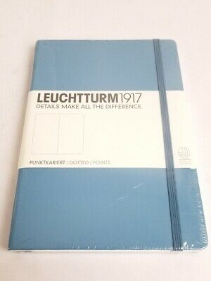 Leuchtturm 1917 Hardcover Dotted Medium Notebook Journal Nordic Blue