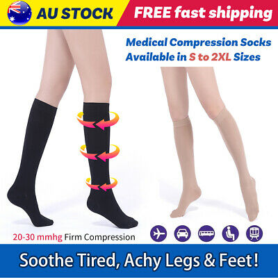 New Medical Varicose Veins Socks Knee High Support Compression Stockings Class 2