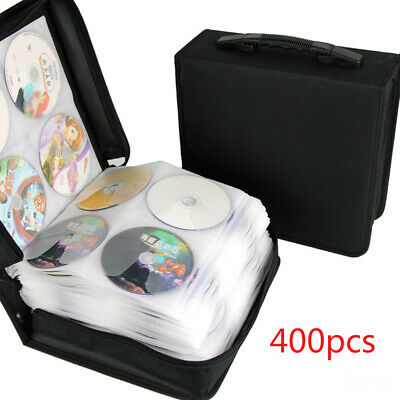 400 Sleeve CD DVD Blu Ray Disc Carry Case Holder Bag Wallet Storage Ring Binder