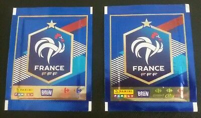 PANINI WM 2018 RUSSIA 2x TÜTEN PACKETS BUSTINE PACKS CARREFOUR FAMILY FRANCE WC