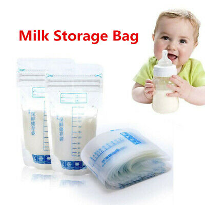 30PCS/Set Baby Breast Milk Storage Bags Food Pouch Pre-sterilised BPA Free 250ml