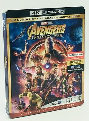 Avengers: Infinity War (4K Ultra HD+Blu-ray+Digital Code, 2018) NEW w/ Slipcover
