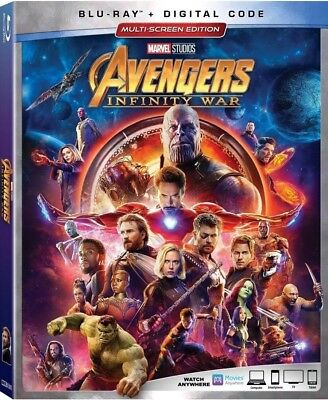 Avengers: Infinity War (Blu-ray+Digital, 2018) NEW w/ Slipcover GET IT FAST!
