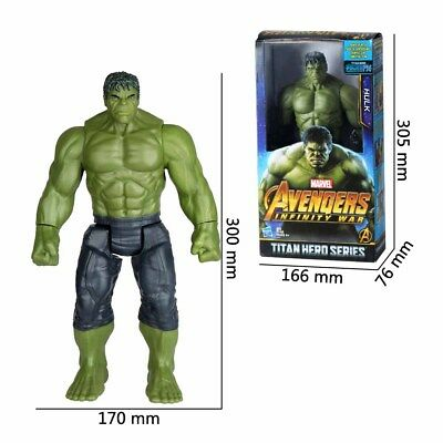 "Marvel Avengers Infinity War Titan Hero Series Hulk 12"" Action Figure 30cm UK"