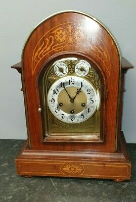 Antique Edwardian Bow Top Junghans 8 Day Westminster Chiming Table Clock