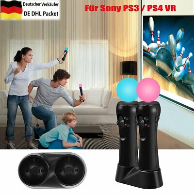 Dual Ladestation Für Playstation Move Controller Für Sony PS3 / PS4 VR DHL DHL