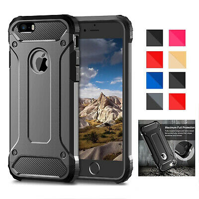 Hybrid Armor Shockproof Rugged Bumper Case For iPhone XS Max XR X 8 7 6S Plus 5s