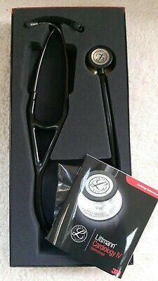 3M™ Littmann® Cardiology IV™ Stethoscope, Brass Finish Chest Piece, Black Tube
