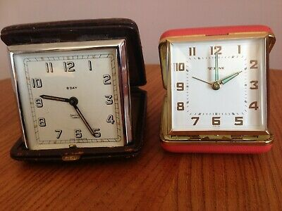 Smiths 8 Day Art Deco Look Folding Travel Clock In Good Working Order
