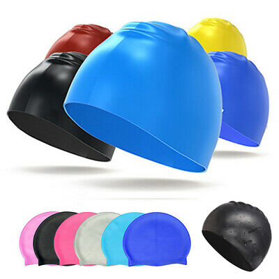 Unisex Adult Swimming Cap Hat Mens Womens Pool Sea Silicone Durable Elastic Cap