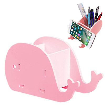 Cute Whale Pen Pen Pot Pencil Holder withPhone Stand Desk Desk Supplies Desk Box