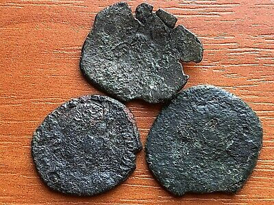 Lot of 3 Ancient Roman and Byzantine Imperial Bronze Coins
