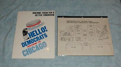 Richard J. Daley Rare 1968 Democratic National Convention Book With Seating Plan