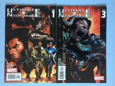 Ultimate Nightmare 1 and 3 Marvel Comics VF/NM 2004